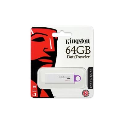 Kingston 64GB DataTraveler, USB 3.0 - Gen 4 - fialový