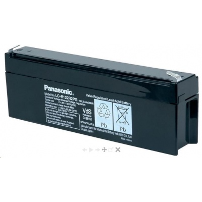 Baterie - Panasonic LC-R122R2P (12V/2,2Ah - Faston 187), životnost 6-9let