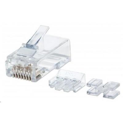 Intellinet konektor RJ45, Cat6A, UTP, 15µ, lanko, 80 ks v nádobě