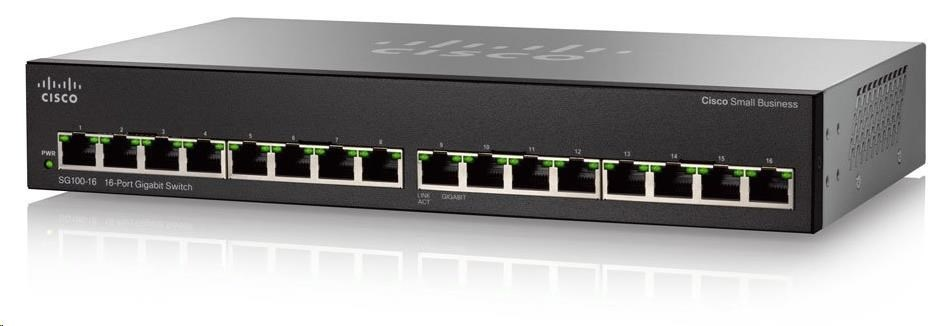 Cisco switch SG110-16, 16x10/100/1000