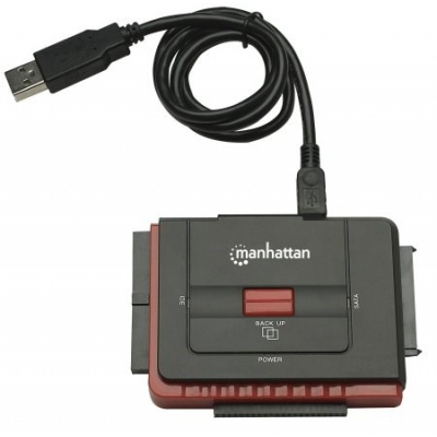 MANHATTAN adaptér z USB na SATA/IDE (3-in-1 with One-Touch Backup)