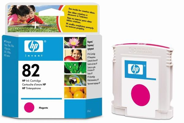 HP 82 Magenta DJ Ink Cart, 69 ml, C4912A