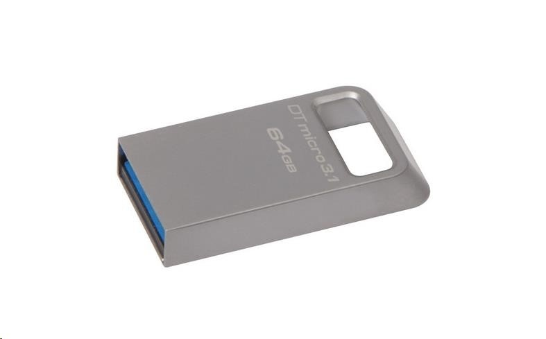 Kingston 64GB USB 3.0 DataTraveler Micro 3.1 - kovový