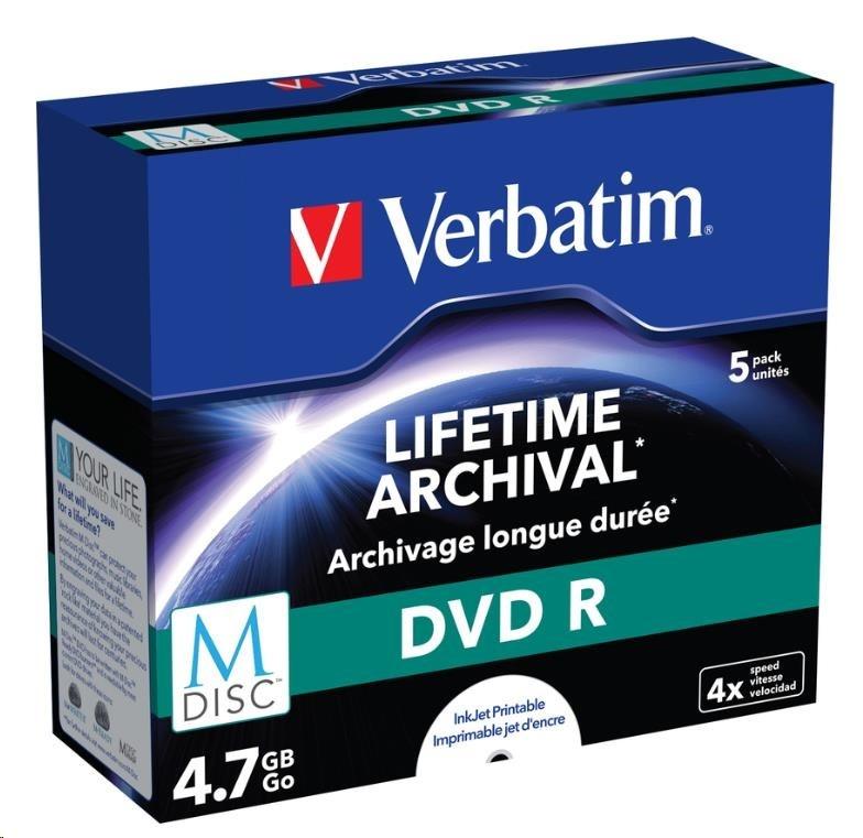 VERBATIM MDisc DVD R(5-pack)Jewel/4x/4.7GB