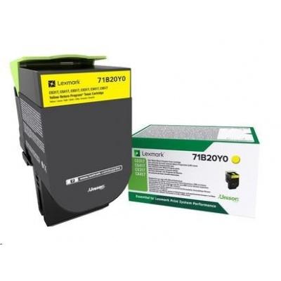 Lexmark toner pro CS/CX317, 417, 517 Yellow z programu Lexmark Return na 2 300 stran