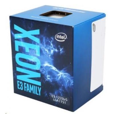 CPU INTEL XEON E3-1220 v5, LGA1151, 3.00 GHz, 8MB L3, 4/4, no VGA, 80W, BOX