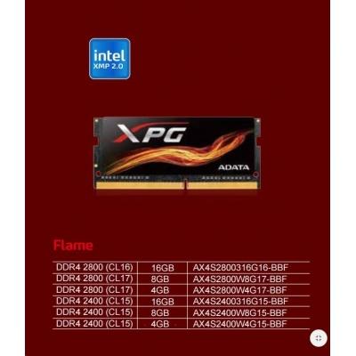 SODIMM DDR4 4GB 2400MHz CL15 ADATA XPG Flame, Red