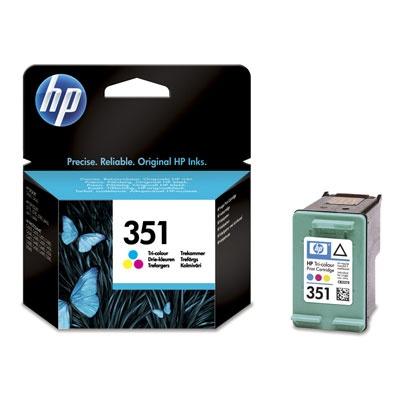 HP 351 Tri-color Ink Cart, 3,5 ml, CB337EE