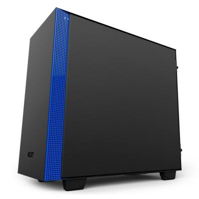 NZXT skříň H400 / micro-ATX / MidTower / průhledná bočnice / 2x USB 3.0 / černomodrá
