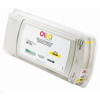 OWA Armor cartridge pro HP DesignJet Z 6600, 6800, 775ml, C1Q40A, Yellow