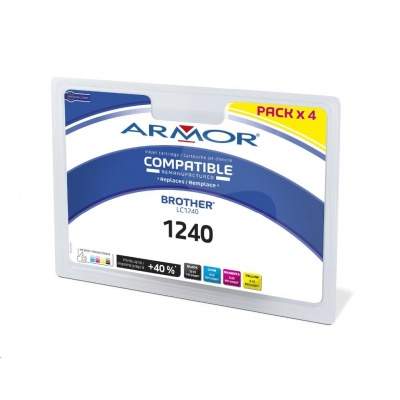 ARMOR cartridge pro BROTHER MFC-J6910, 1BK+1C+1M+1Y, (LC1240)