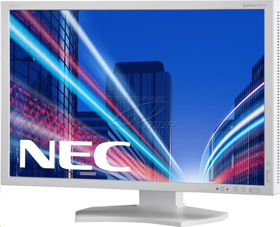 "NEC MT 23"" LCD MuSy P232W White IPS 1920x1080/60,8ms,1000:1, 250cd, DP+DVI+HDMI+D-SUB"