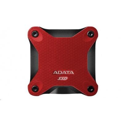 ADATA External SSD 512GB ASD600 USB 3.0 (R:440/W:430 MB/s) červená