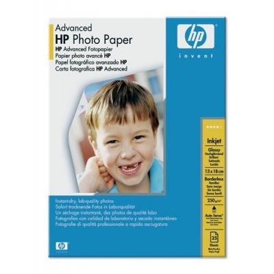 HP Advanced Glossy Photo Paper-25 sht/13 x 18 cm borderless,  250 g/m2, Q8696A