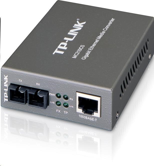 TP-Link MC210CS - Transreciever 1000TX/1000FX konvertor, SM, SC, 15km