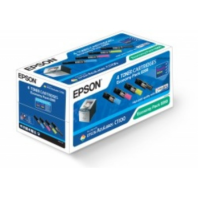 EPSON Toner čer+bar AcuLaser C1100/C1100N/CX11N-CMYK Economy Pack