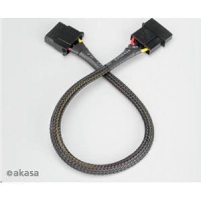 AKASA kabel  prodloužení 4pin MOLEX kabelu, 30cm