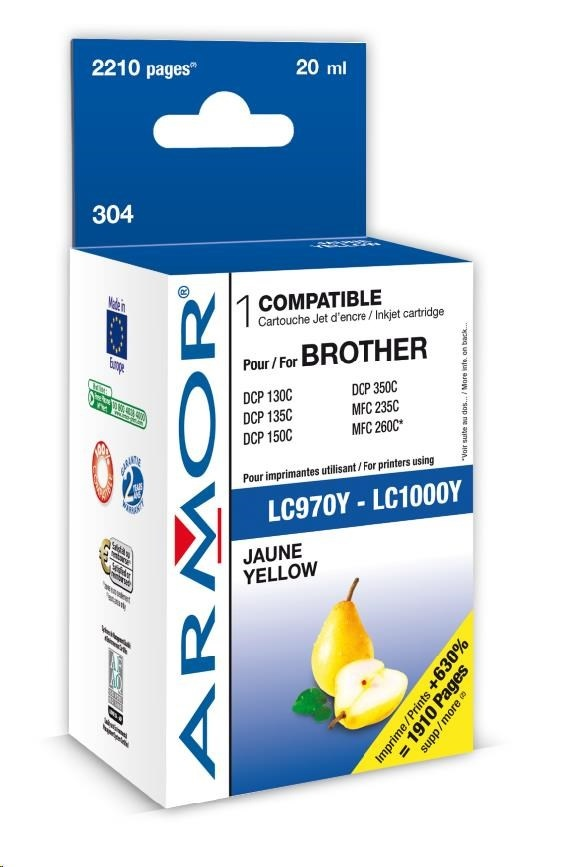 ARMOR cartridge pro BROTHER DCP-130/330 Yellow (LC970/1000Y)