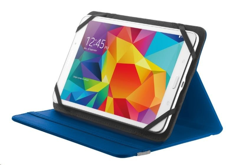 """TRUST Pouzdro na tablet 7-8"""" Primo Folio Stand for tablets - blue, modré"""