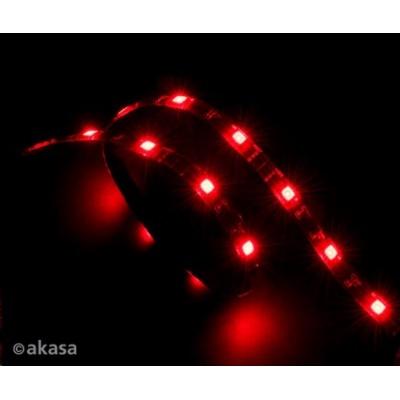 AKASA LED pásek Vegas, Molex 12V napájení, 60cm, červený