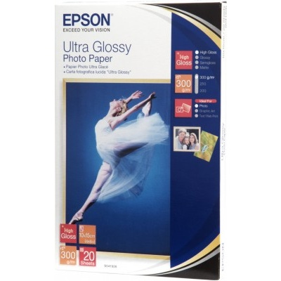 EPSON Paper Ultra Glossy Photo 10x15 (20 listů), 300g/m2