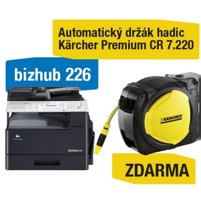 Minolta kopírka bizhub 226 SET1 (bh226 + DF-625 + AD-509 + MK-749 + NC-504) + Kärcher Držák hadic Premium CR 7.220