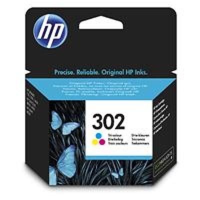 HP 302 Tri-color Original Ink Cartridge, , F6U65AE