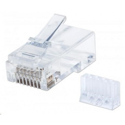 Intellinet konektor RJ45, Cat6, UTP, 15µ, drát, 90 ks v nádobě
