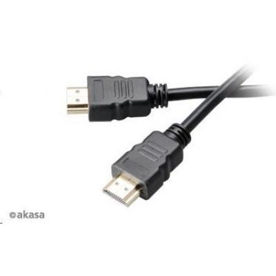 AKASA kabel HDMI, podpora Ethernet, 2K a 4K rozlišení, pozlacené konektory, 10m