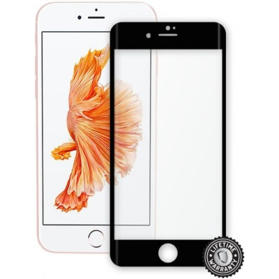 ScreenShield ochrana displeje Tempered Glass pro Apple iPhone 7 Plus, černá (kovový okraj)