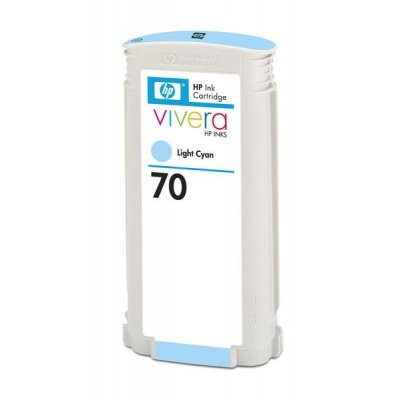 HP 70 Light Cyan DJ Ink Cart, 130 ml, C9390A