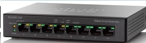 Cisco switch SG110D-08HP,  8x10/100/1000, PoE