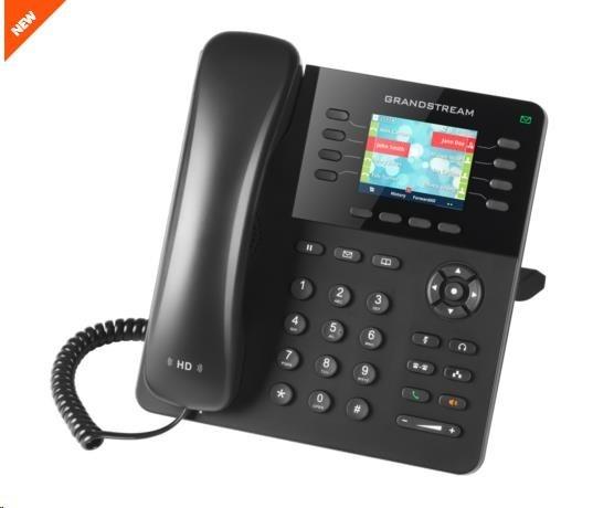 Grandstream GXP2135 [VoIP telefon - 4x SIP účet, HD audio, bluetooth, podpora headset, barevný LCD, 2x GLAN]