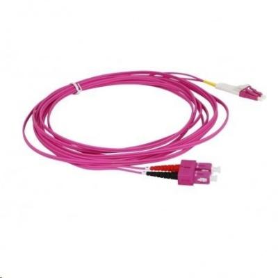 Duplexní patch kabel MM 50/125, OM4, SC-LC, LS0H, 1m