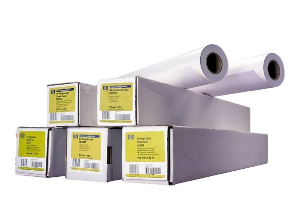 HP Universal Coated Paper-610 mm x 45.7 m (24 in x 150 ft),  4.9 mil,  90 g/m2, Q1404B