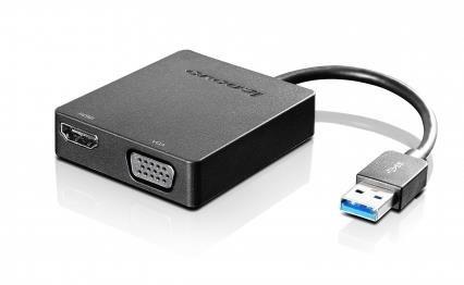 LENOVO adaptér Universal USB 3.0 to VGA/HDMI - přenos signálu přes VGA nebo HDMI