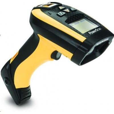 Datalogic PowerScan PM9300, 1D, AR, disp., RB, black, žlutá