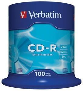 VERBATIM CD-R(100-Pack)Spindle/EP/DL/52x/700MB