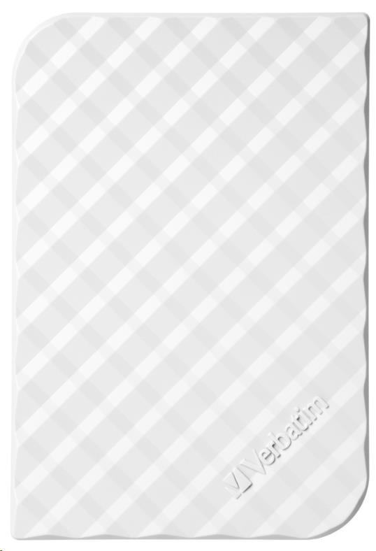 "VERBATIM HDD 2.5"" 1TB Store 'n' Go Portable Hard Drive USB 3.0, White GEN II"