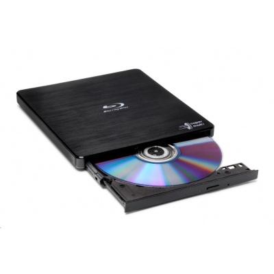 HITACHI LG - externí mechanika BD-W/CD-RW/DVD±R/±RW/RAM/M-DISC BP55EB40, Black, box+SW