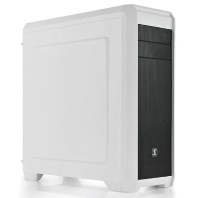SilentiumPC skříň Regnum RG4F Frosty White / ATX / čtečka SD / USB 3.0 / 3x 120mm fan / regulace otáček/ bílá