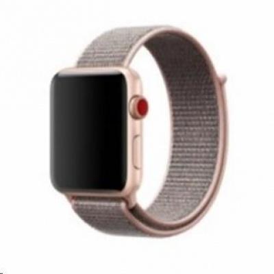 eses nylonový řemínek 38mm světle růžový pro apple watch