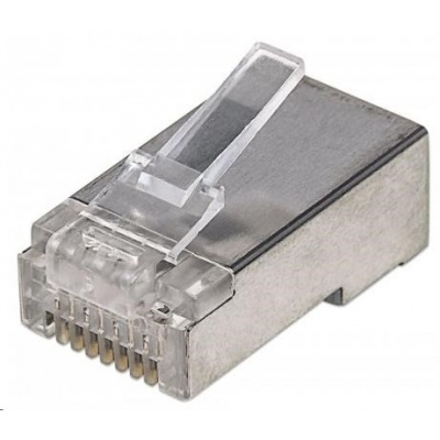 Intellinet konektor RJ45, Cat5e, stíněný STP, 15µ, lanko, 100 ks  v nádobě