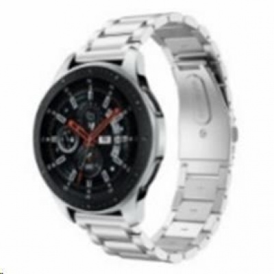 eses kovový řemínek stříbrný pro samsung galaxy watch 42mm/samusung gear sport/ garmin vivoactive 3