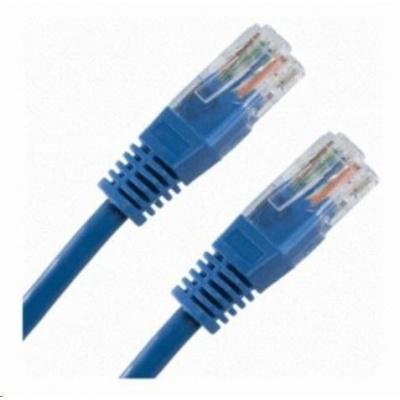 Patch kabel Cat6, UTP - 0,25m, modrý