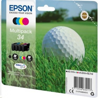 "EPSON ink Multipack 4-colours ""Golf"" 34 DURABrite Ultra Ink"