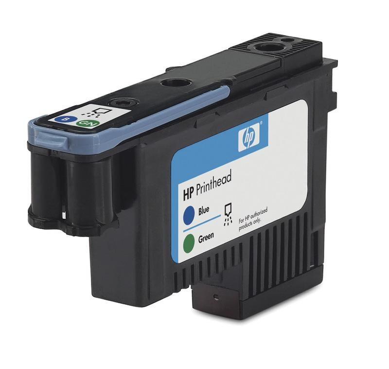 HP 70 Blue + Green DJ Printhead, C9408A