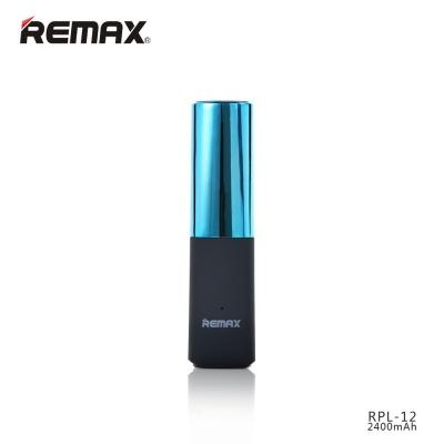REMAX PowerBank 2400 mAh, lipstick, modrá barva